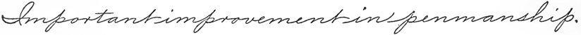 Drill 156: Important improvement in penmanship