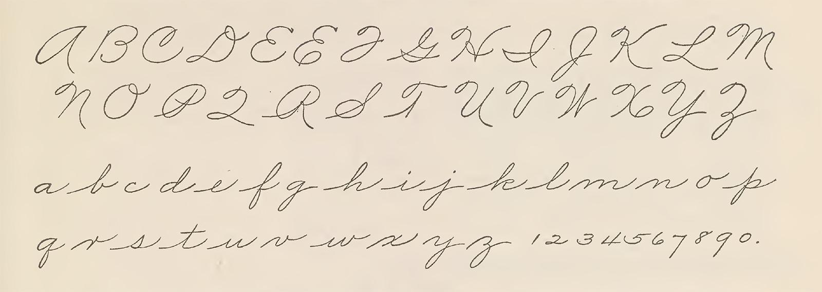 The Palmer Method alphabet